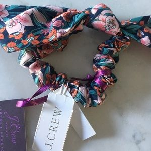 J Crew Liberty Bow Scrunchie in Mountain Primrose